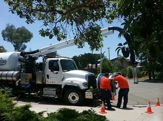 Goleta Sanitary District employees in the field